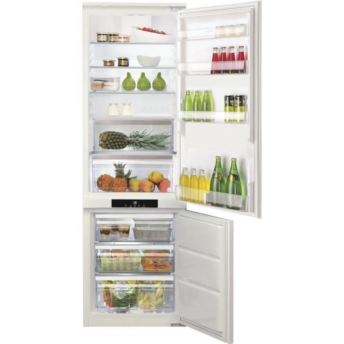 HOTPOINT BCB7030AAFC-Réfrigérateur encastrable congélateur bas-260 L (197+63 L)-Froid brassé / ventilé no frost-A+-L54xH177 cm-Blanc