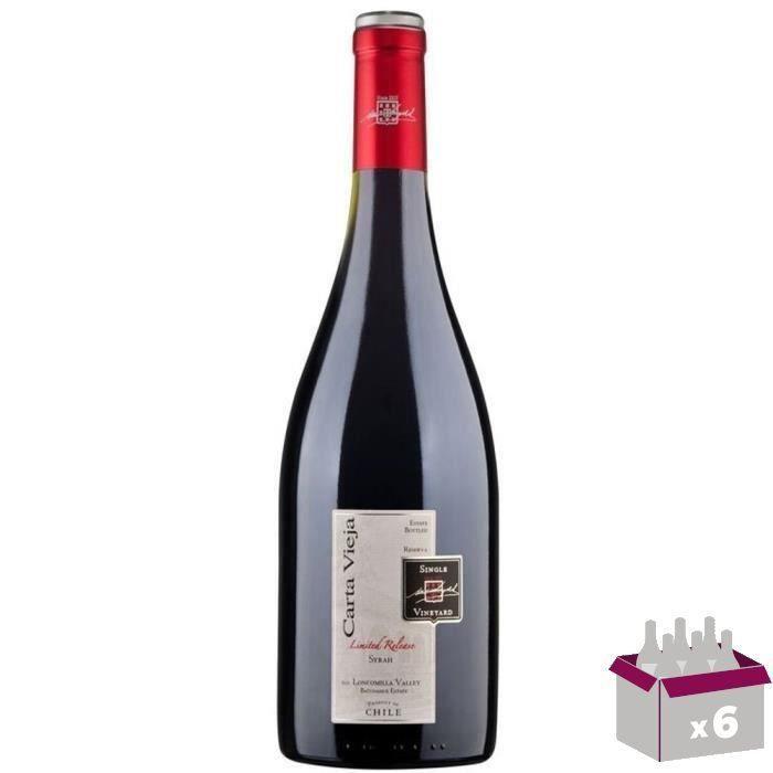 Carta Vieja Reserva 2016 Syrah - Vin rouge du Chili