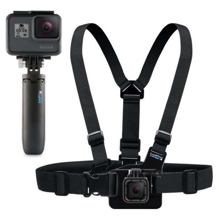 GOPRO SHORTY Mini-perche extensible et trépied + CHESTY Harnais de poitrine