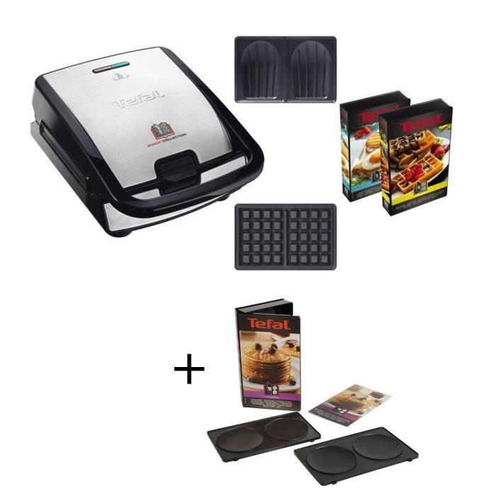 Pack Spécial : TEFAL - Gaufrier Snack Collection SW853D12 + Coffret pancake Tefal