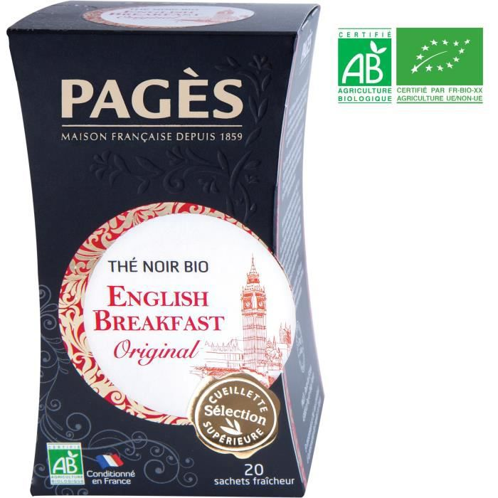 PAGES Thé Noir English Breakfast - Bio