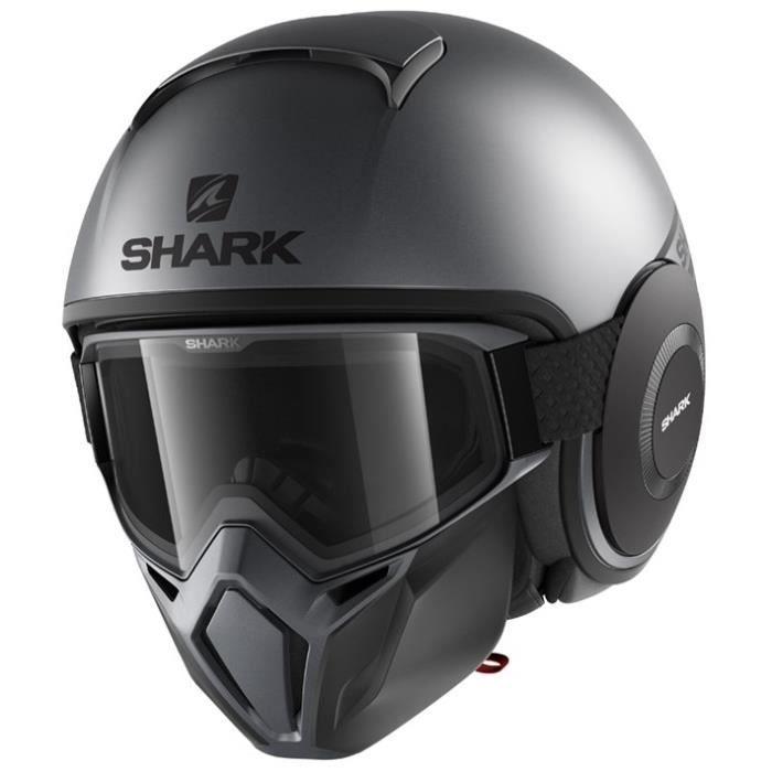 SHARK Casque Jet Drak Street - Néon, noir et gris