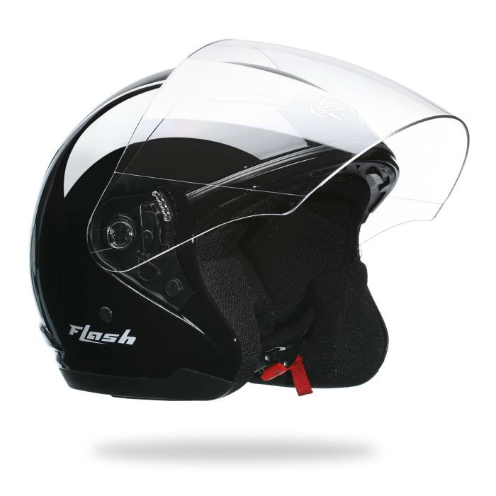 Stormer Casque Jet FLASH Kid Noir Brillant