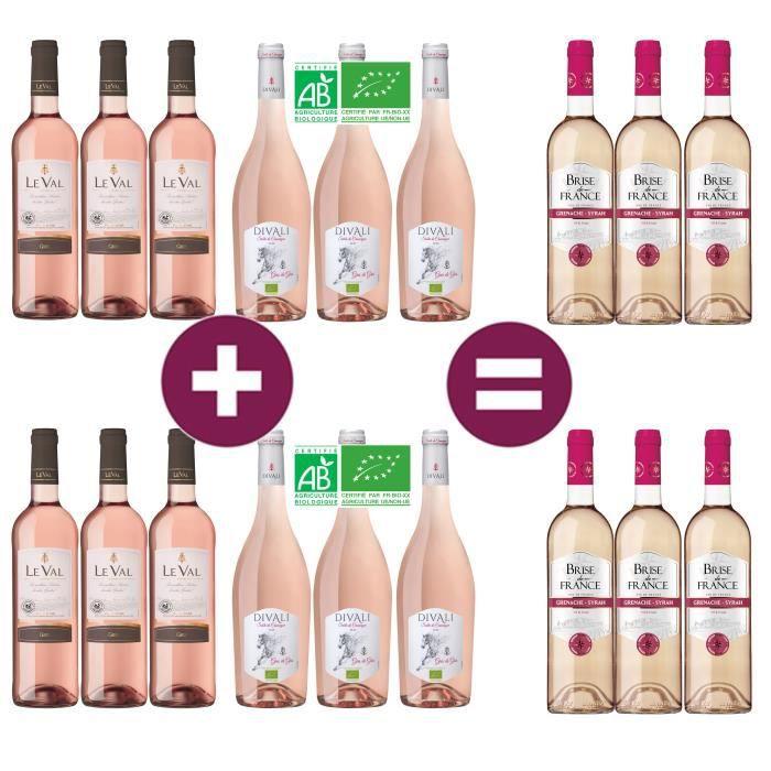 12 = 18 Vin rosé de Languedoc-Roussillon