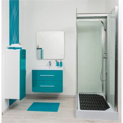 GINO Salle de bain complète en bois simple vasque 81 cm ...