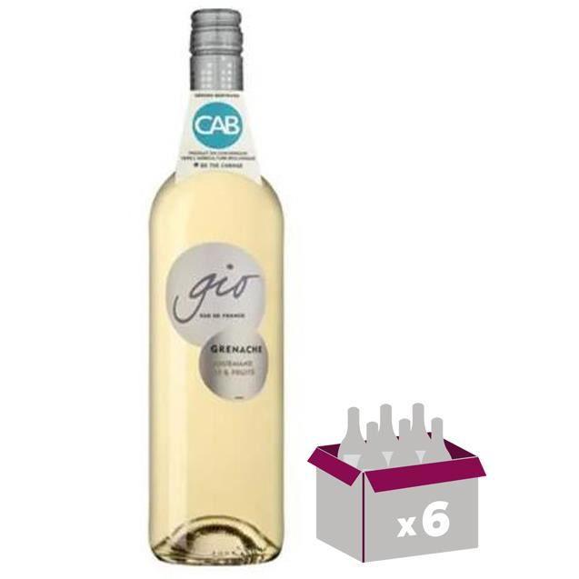 Gérard Bertrand Gio Grenache Blanc Pays d'Oc - Vin blanc du Languedoc-Roussillon - 4 achetées + 2 offertes