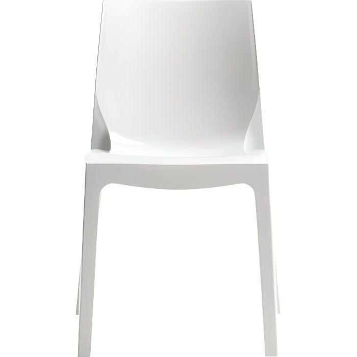 Chaise design blanc laqué Victory