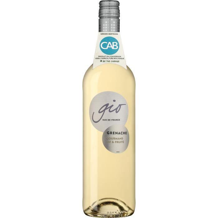 Gérard Bertrand Gio Grenache Blanc IGP Pays d'Oc - Vin blanc du Languedoc-Roussillon