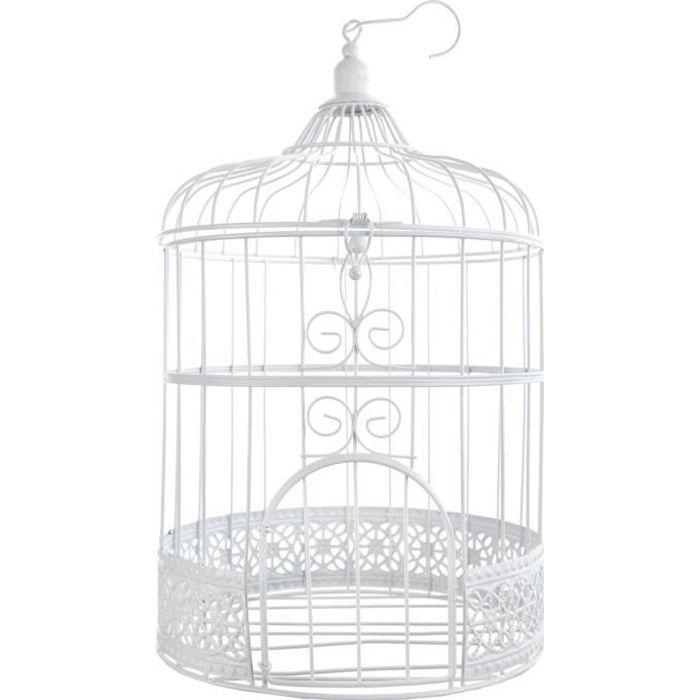 SANTEX Urne Tirelire cage blanc