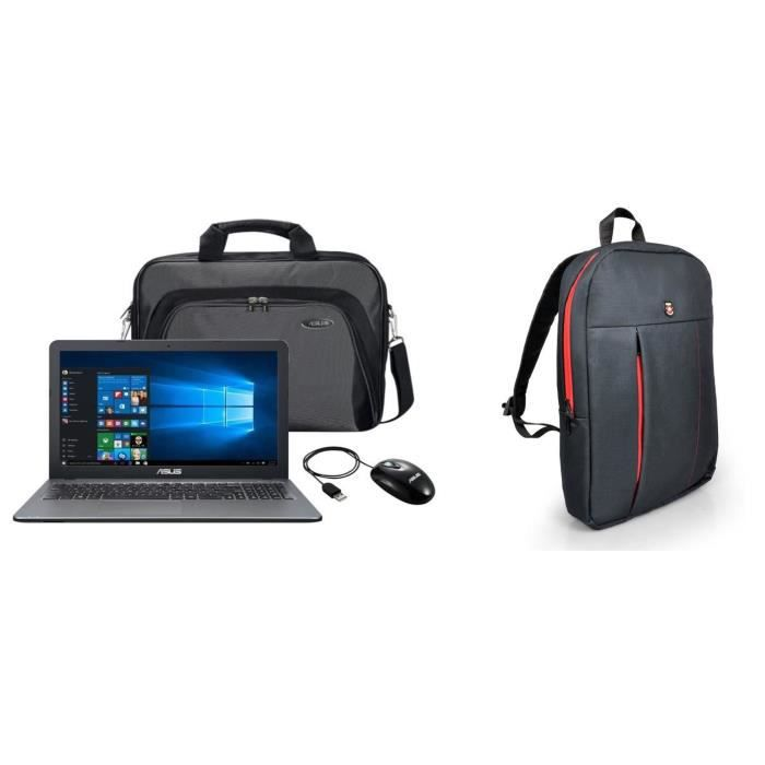 Asus pc portable x540la xx1303t 156 4go core i3 5005u 1to hdd sacoche souris port designs sac à dos pc okland
