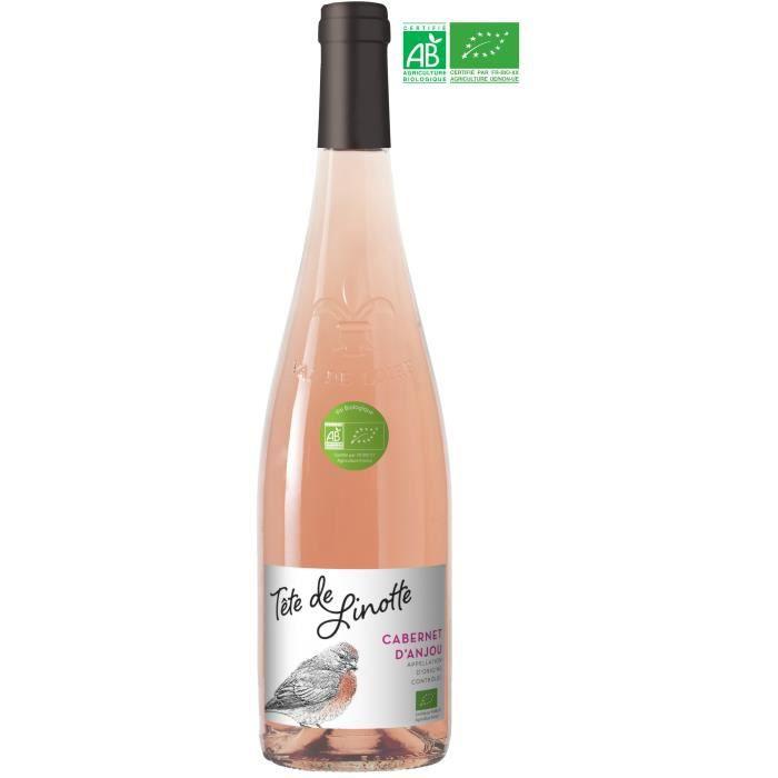 Tête de Linoette 2019 Cabernet d'Anjou - Vin rosé de la Val de Loire - Bio