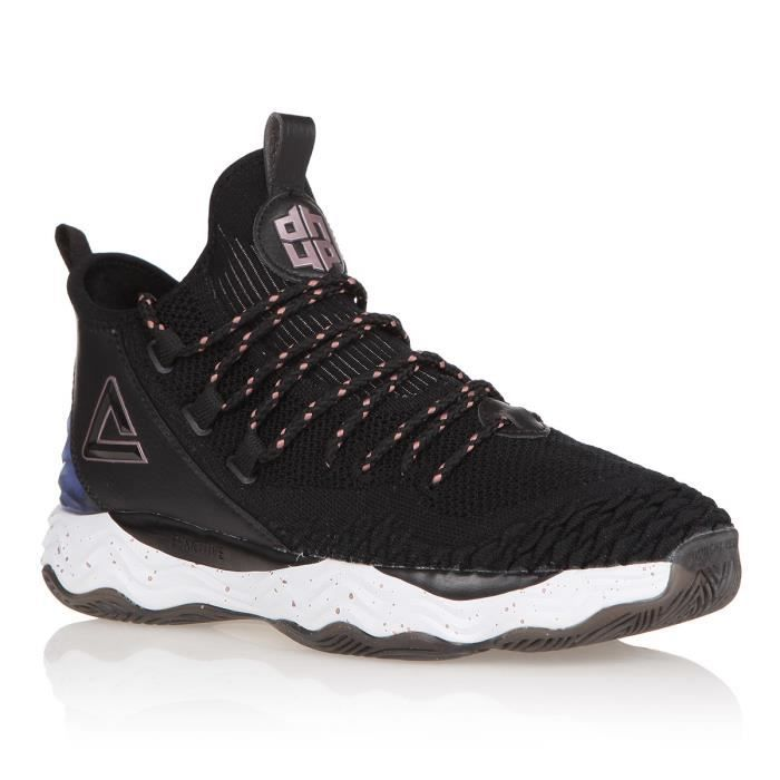 PEAK Chaussures de Basketball Dwight Howard 4 - Mixte - Noir