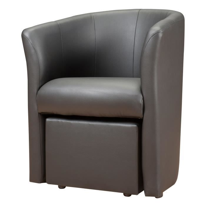 fauteuil cabriolet gris pouf baya vendu par 1958303. Black Bedroom Furniture Sets. Home Design Ideas