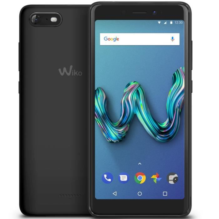 Wiko Tommy 3 Anthracite + Coque bleen offerte