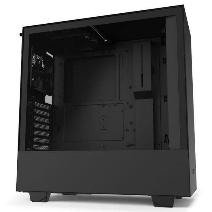 NZXT BOITIER PC H510 - USB 3.1 - Noir Mat - Verre trempé - Format ATX (CA-H510B-B1)