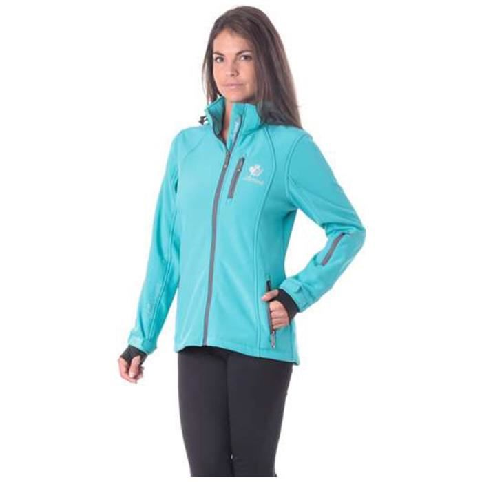 NORTHLAND Softshell Femme contrecollé polaire Bilbao - Turquoise