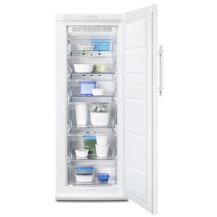ELECTROLUX EUF2047AOW - Congélateur armoire - 200L - Froid ventilé - A+ - L 60cm x H 154cm - Blanc