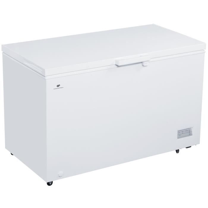 CONTINENTAL EDISON - Congélateur coffre - 380L - Thermostat électronique - Classe A+ - 1 panier - Blanc