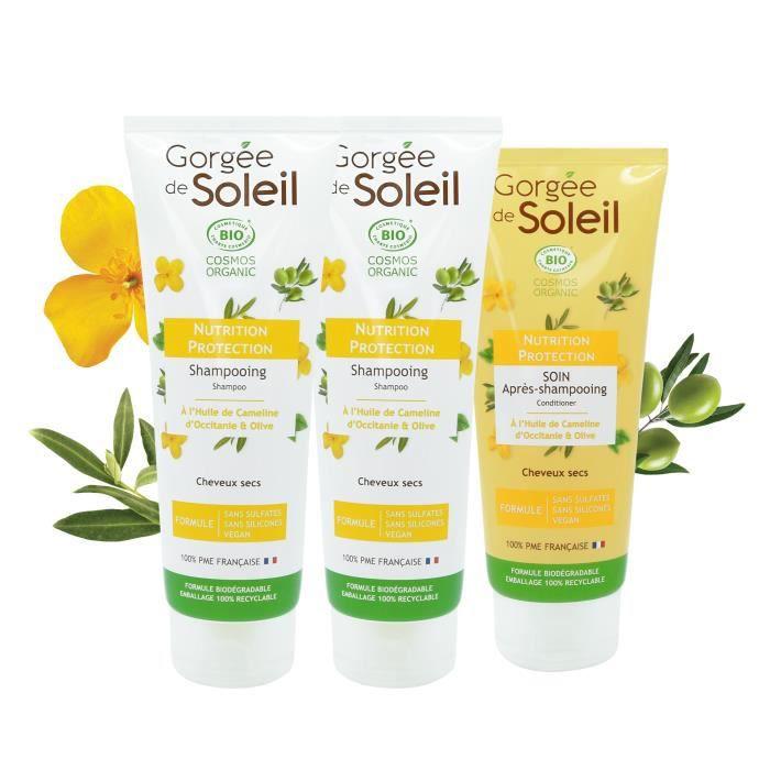 Ma Routine Capillaire BIO Gorgée de Soleil : Shampoing Nutrition et Protection x2, Après-shampoing Nutrition et Protection