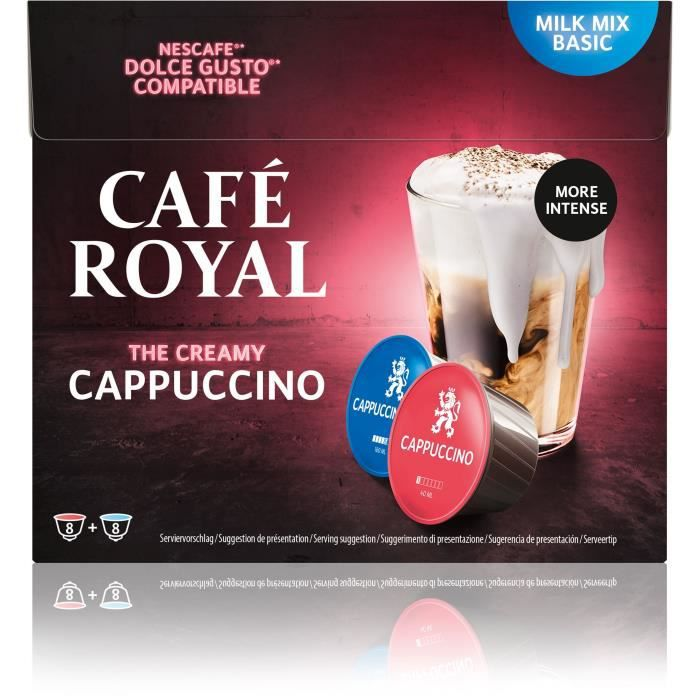 Café royal dolce gusto Cappuccino Capsules compatibles Système Dolce Gusto ®
