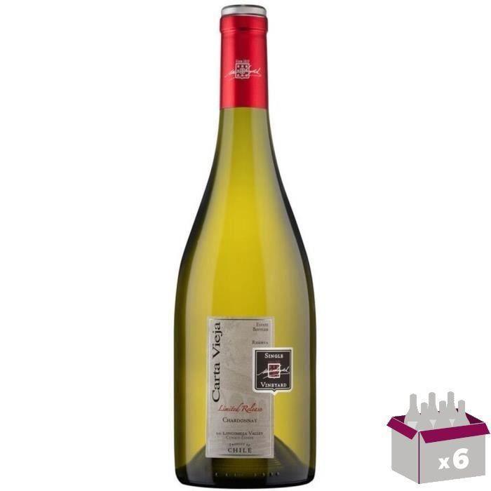 CARTA VIEJA Reserva Chardonnay Vin du Chili - Blanc - 75 cl x 6