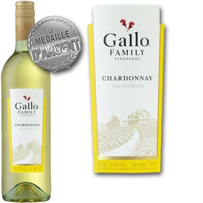 Gallo Family Chardonnay Californie vin blanc x1