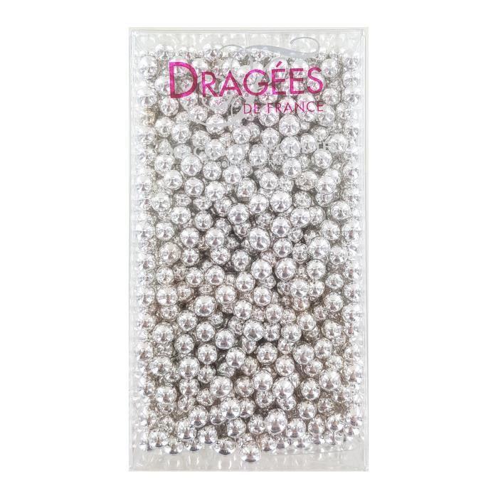 DRAGEES DE FRANCE Perles de sucre - Argentées N° 6 - 250 g