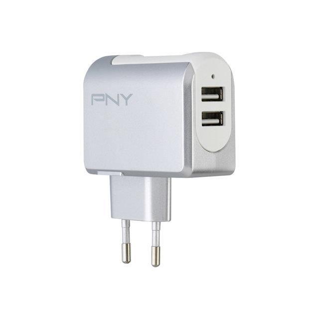Pny Chargeur Secteur double Charge Rapide 3.4A - Adapteur secteur