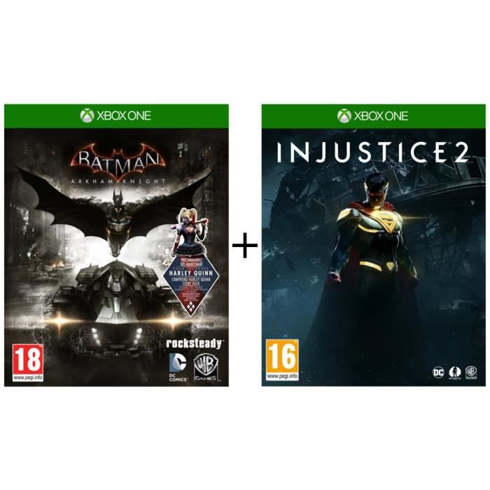 Pack Injustice 2 + Batman Arkham Knight Jeux sur Xbox One