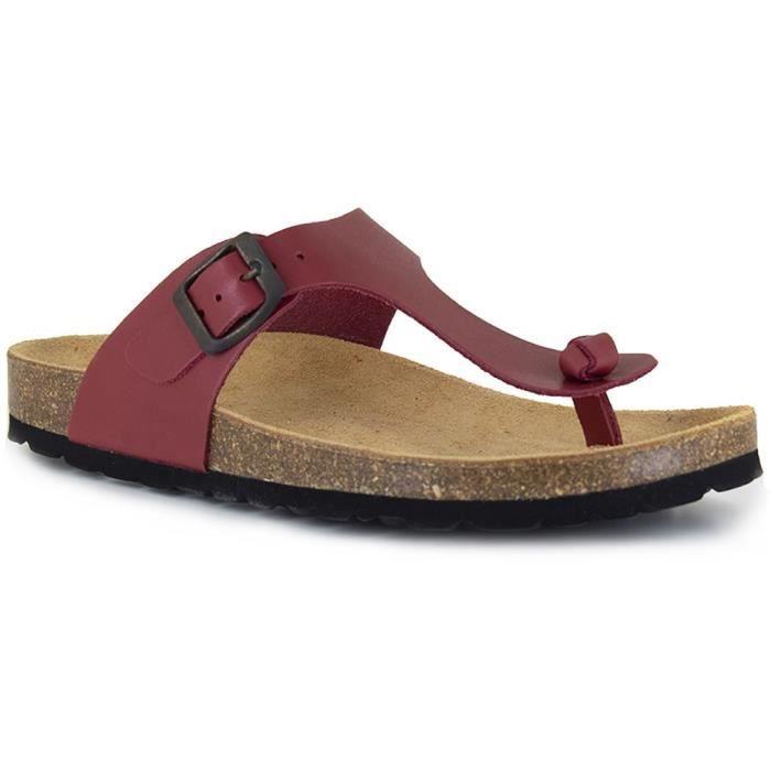 J.BRADFORD Chaussures Sandales JB-Abadia Rouge Femme