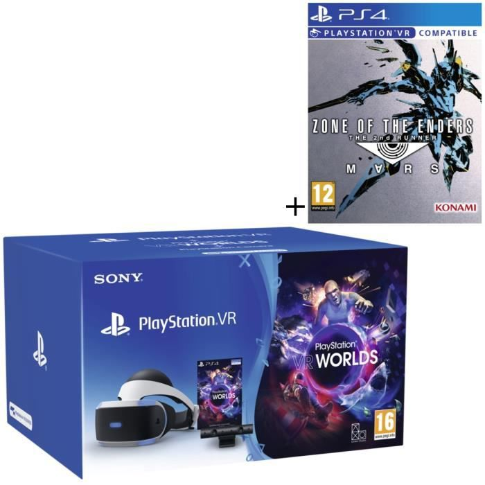 Pack PlayStation VR V2 + PlayStation Caméra + 2 jeux : VR Worlds (à télécharger) + Zone of The Enders - The 2nd Runner: Mars