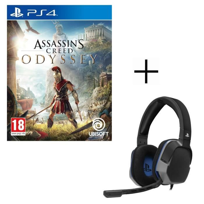 Assassin's Creed Odyssey Jeu PS4 + Casque Gamer Afterglow LVL3