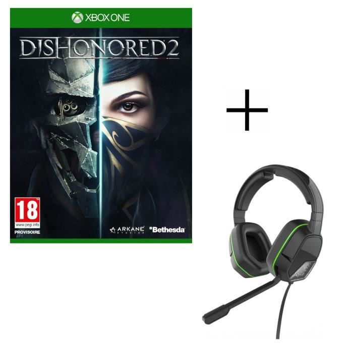 Dishonored 2 Jeu Xbox One + Casque Afterglow LVL3