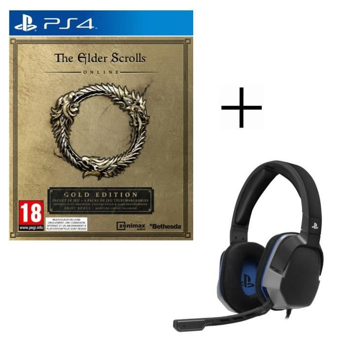 The Elder Scrolls Online Edition Gold Jeu PS4 + Casque Afterglow Level 3