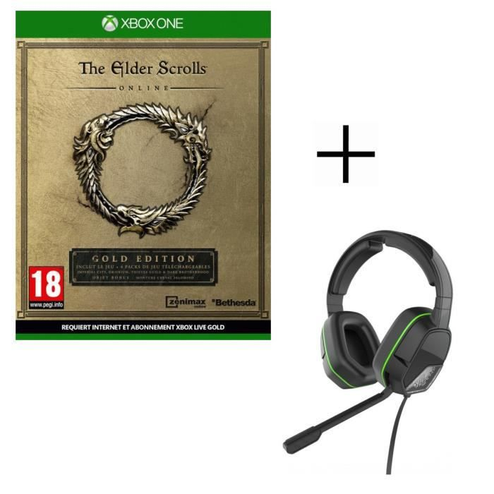 The Elder Scrolls Online Edition Gold Jeu Xbox One + Casque Afterglow LVL3