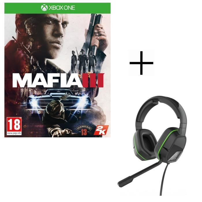 Mafia III Jeu Xbox One + Casque Afterglow LVL3