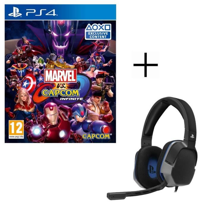Marvel vs Capcom Infinite Jeu PS4 + Casque Afterglow Level 3