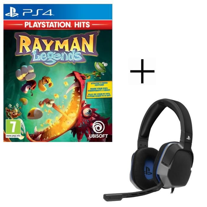 Rayman Legends Playstation HITS Jeu PS4 + Casque Afterglow Level 3