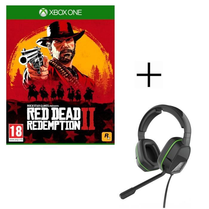 Red Dead Redemption 2 Jeu Xbox One + Casque Afterglow LVL3 pour Xbox One