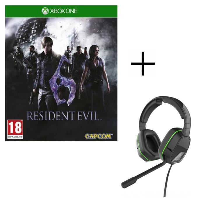 Resident Evil 6 Jeu Xbox One + Casque Afterglow LVL3