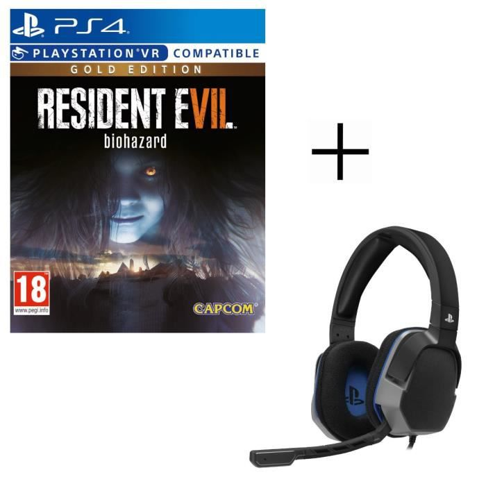 Resident Evil 7: Biohazard Gold Edition Jeu PS4 + Casque Afterglow Level 3