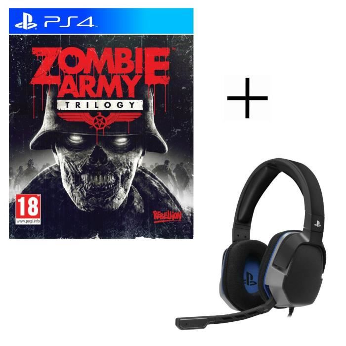 Zombie Army Trilogy Jeu PS4 + Casque Afterglow Level 3