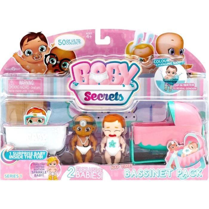 BABY SECRETS Pack 3 Baby Secrets + Accessoires - Bassinet Pack