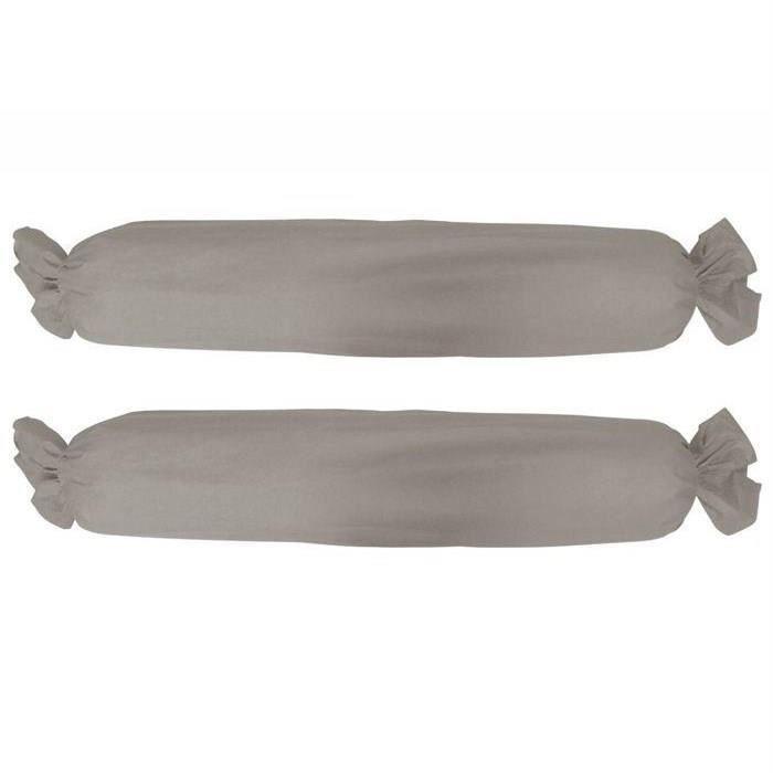 TODAY Lot de 2 taies de traversin - 45x185 cm - 100% Coton - Mastic