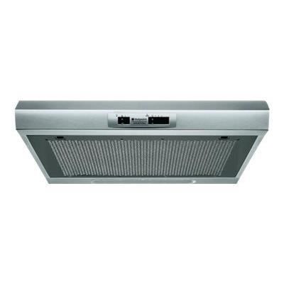 HOTPOINT HSLMO 66F AS X - Hotte visière evacuation / recyclage - 208m3 air / h max - 67dB max - 3 vi