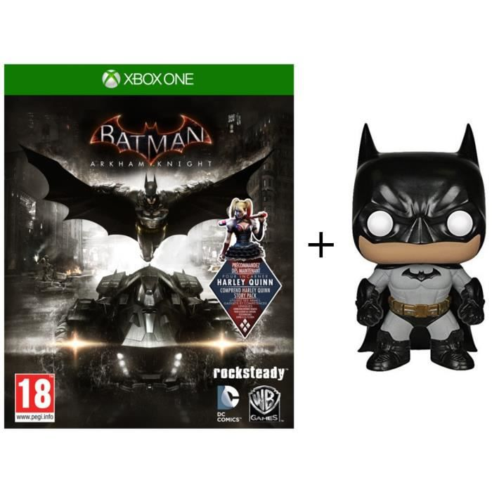 Pack Batman Arkham Knight Jeu Xbox One + Figurine Funko Pop! DC Comics - Batman Arkham Asylum: Batman