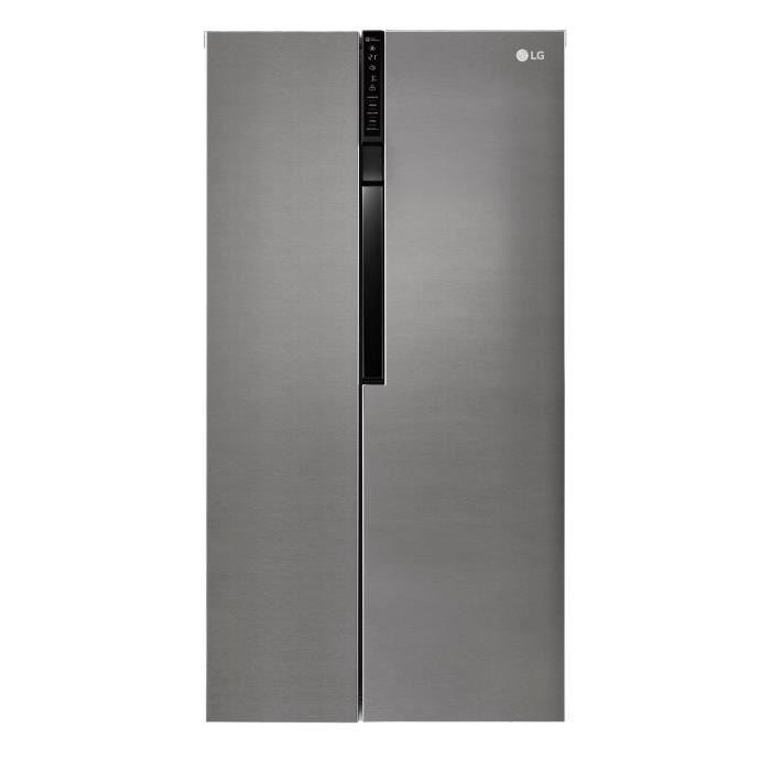 LG GSB360BASZ - Réfrigérateur américain - 591L (394+197) - Froid ventilé - A++ - L 91.2 x H 179cm - Inox