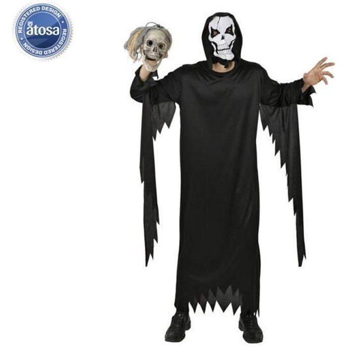 ATOSA Déguisement squelette Homme - Noir