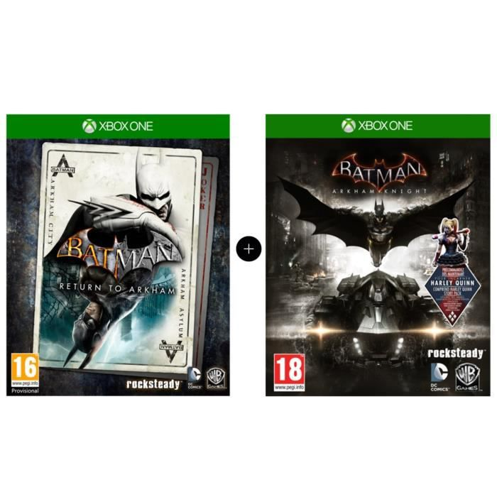 Pack Batman : Return to Arkham + Batman Arkham Knight Jeux Xbox One