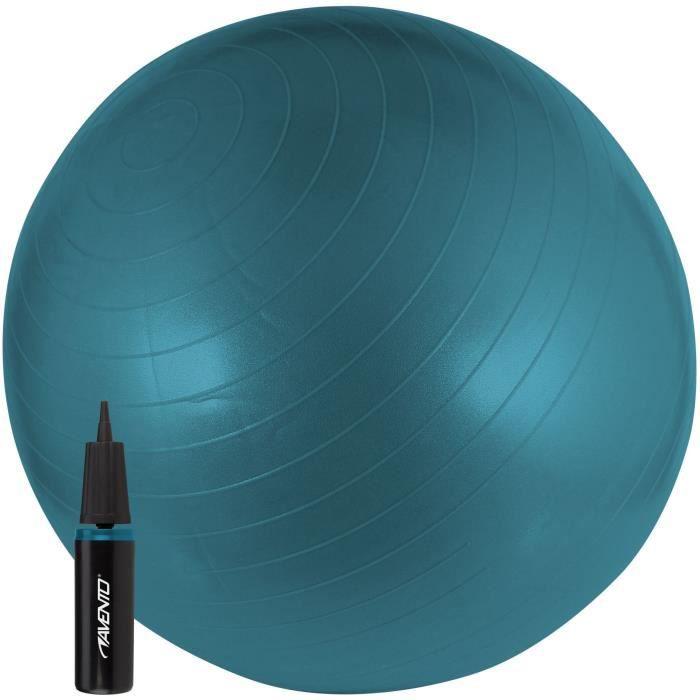 AVENTO Swiss ball Avec Pompe - M - 65 cm - Bleu
